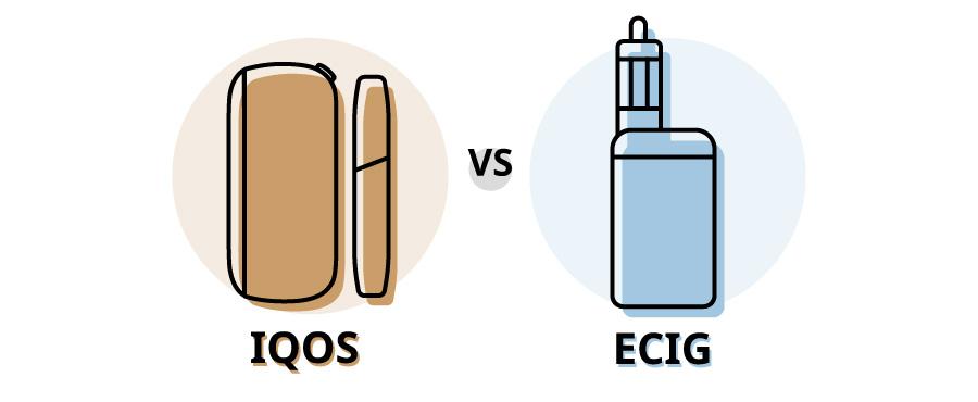 iqos vs ecig tabacco